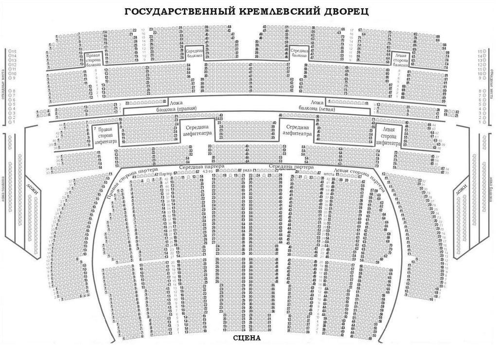 Схема зала государственного кремлевский дворец.