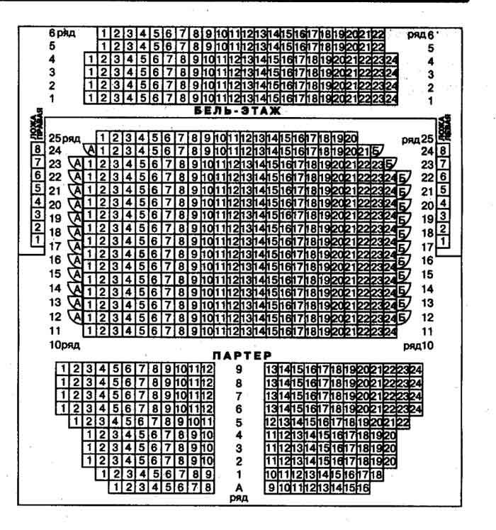 схема зала театра Современник